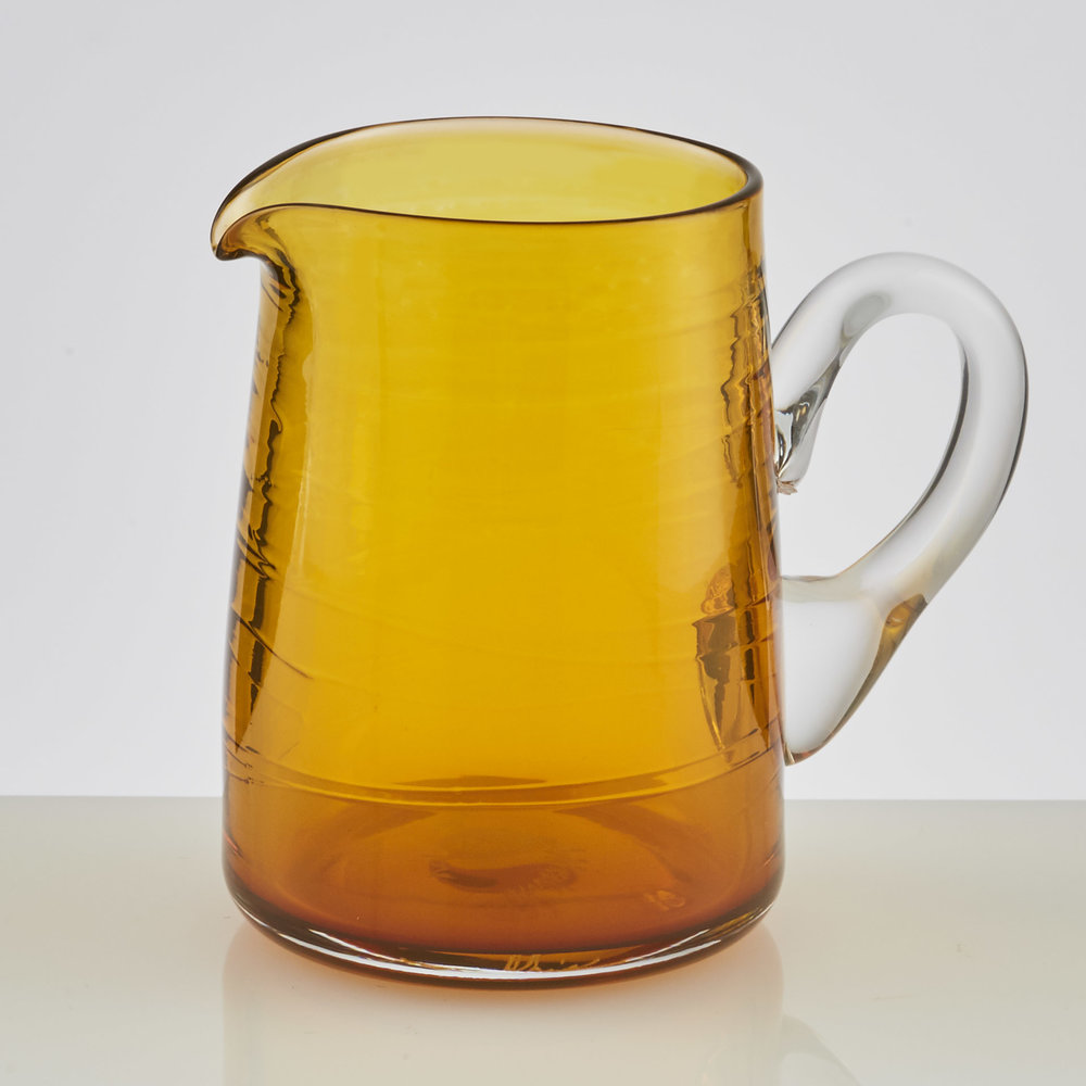 ▲   Tiny Jug  – in rich amber glass