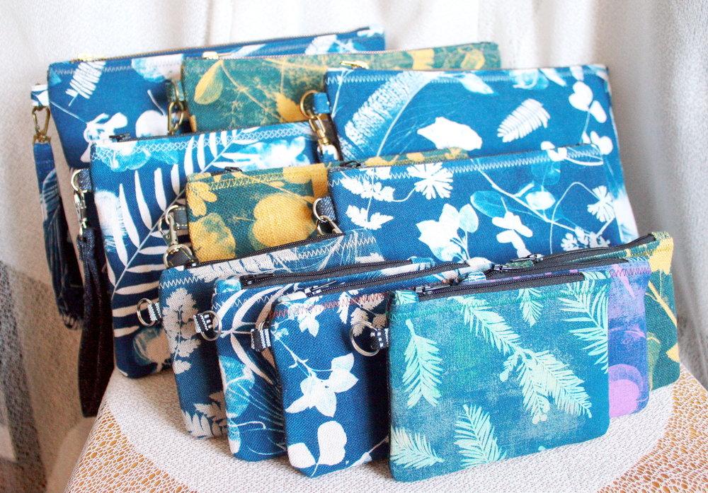 Assorted Cyanotype Print Bags