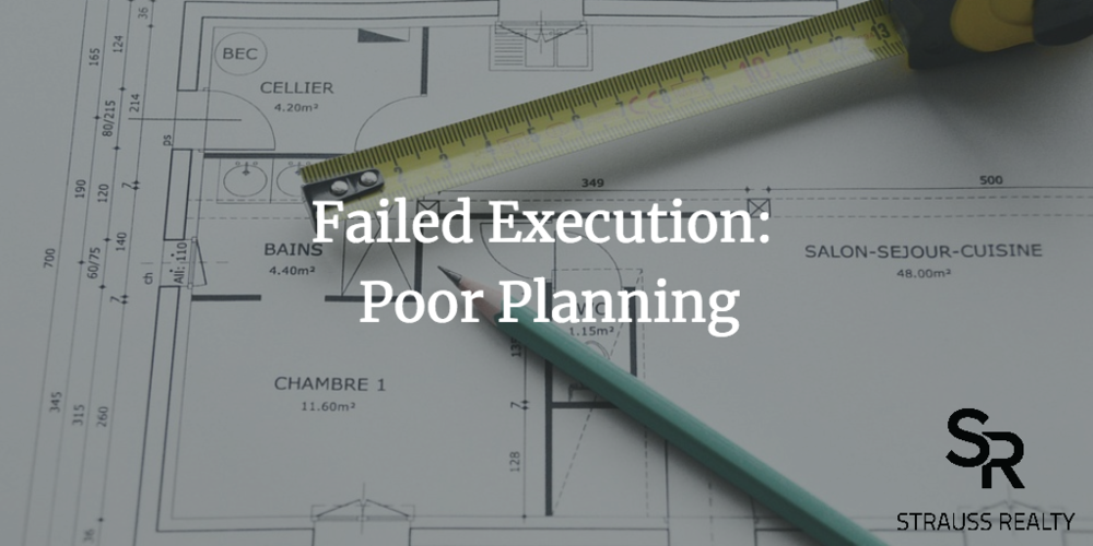 So many problems can be avoided with proper planning.
