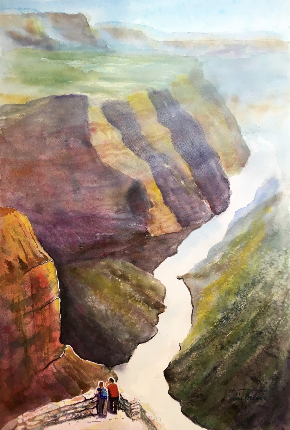 THE GRAND CANYON / watercolor on Arches paper / 22 x 15 in