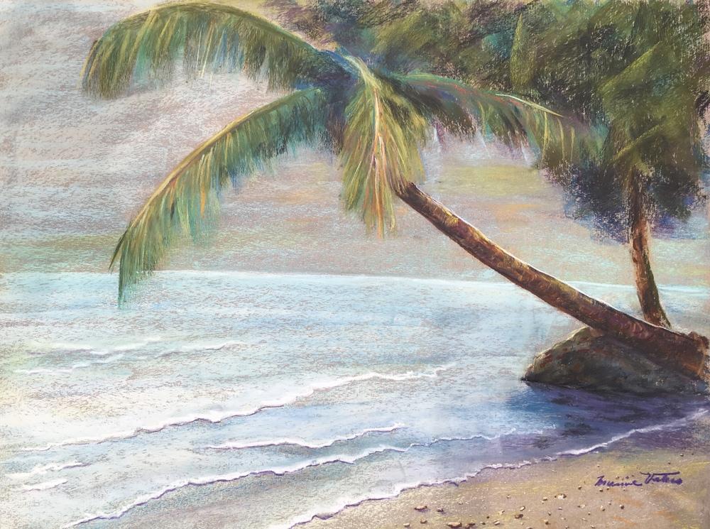 PARADISE, MOOREA / pastel / framed / 18 x 24 in