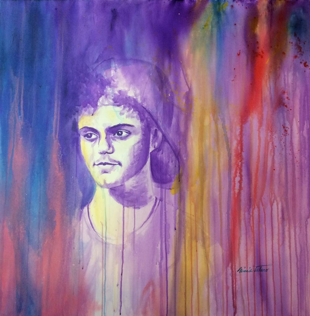 SEBASTIAN / acrylic on canvas / 36 x 36 in