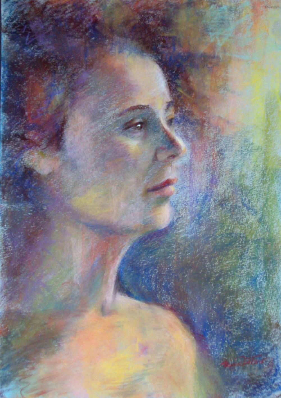 DREAMER / pastel / 16 x 12 in