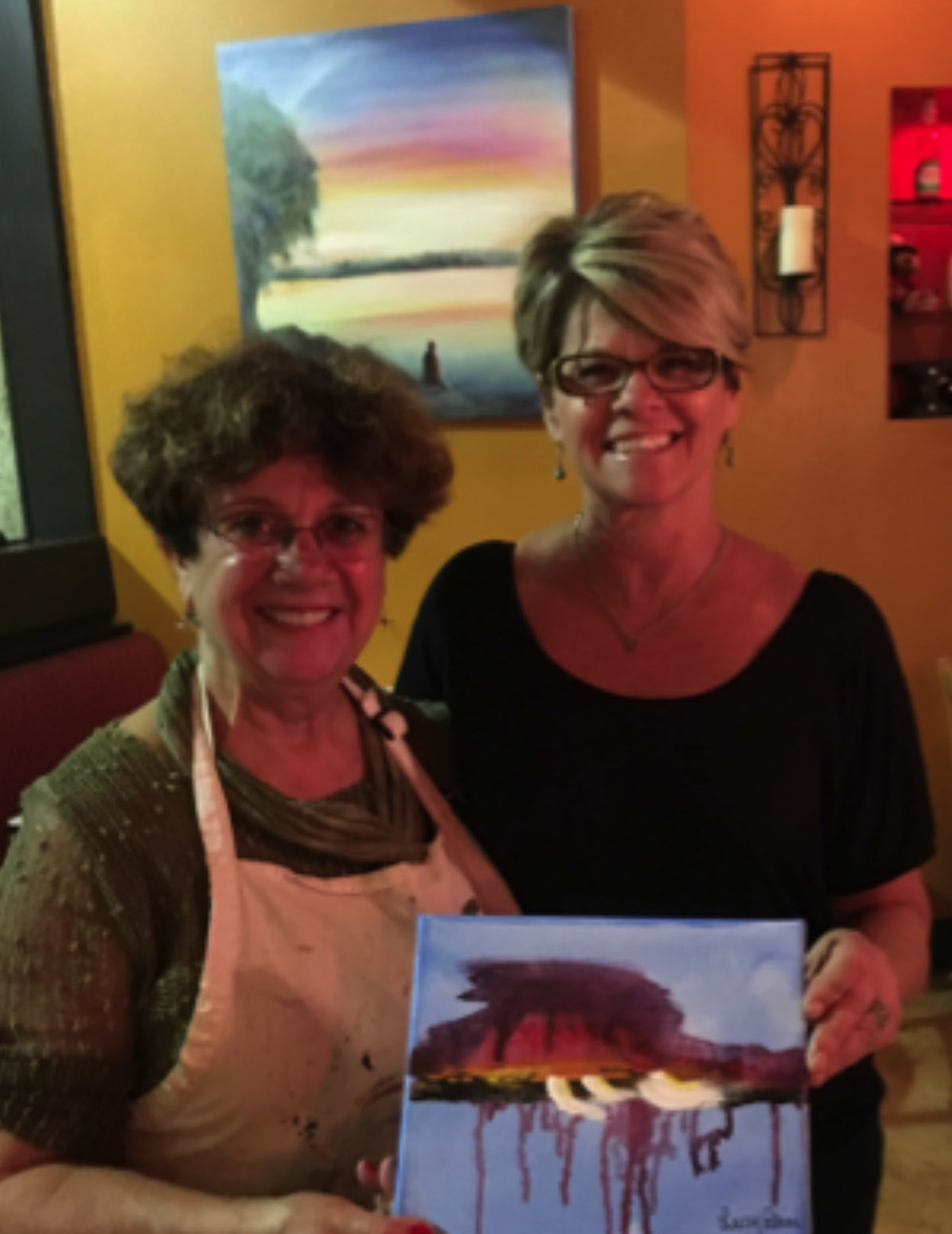 Paint with Wine at Petrini's Restaurant, Little Italy, San Diego