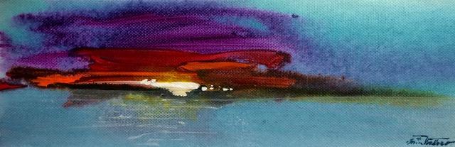 DREAM BIG / acrylic on canvas / 4 x 12 in