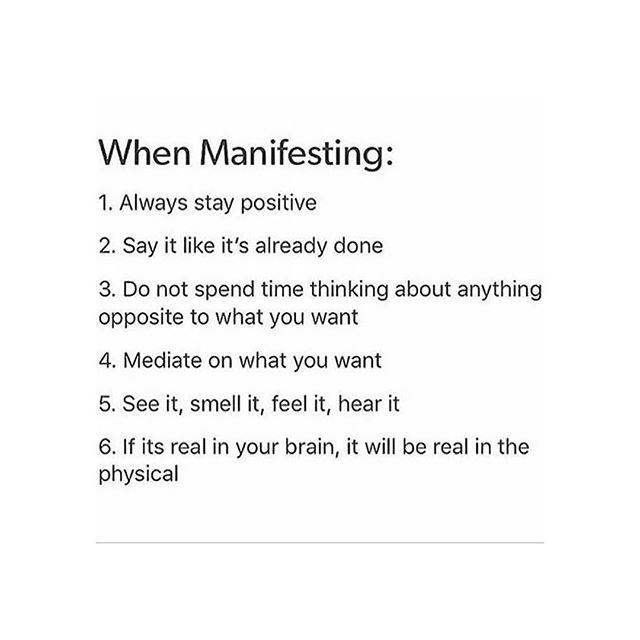 MANIFESTING #MANIFESTO 💯