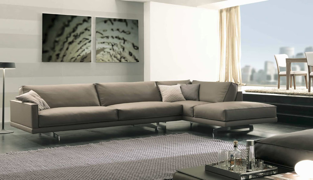 sofas italian honey modern sectional sofa eye catching design