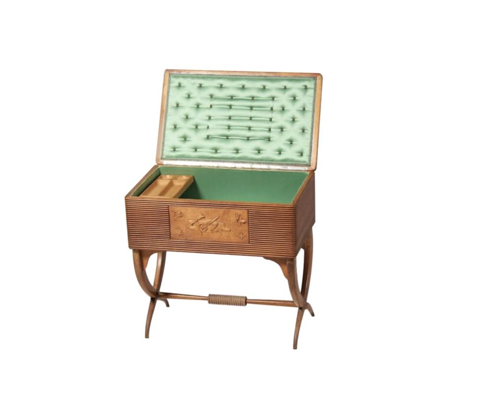 SOLD - Luigi Scremin Working Desk, 1930s, Italian Art Deco Period, Italian Vintage