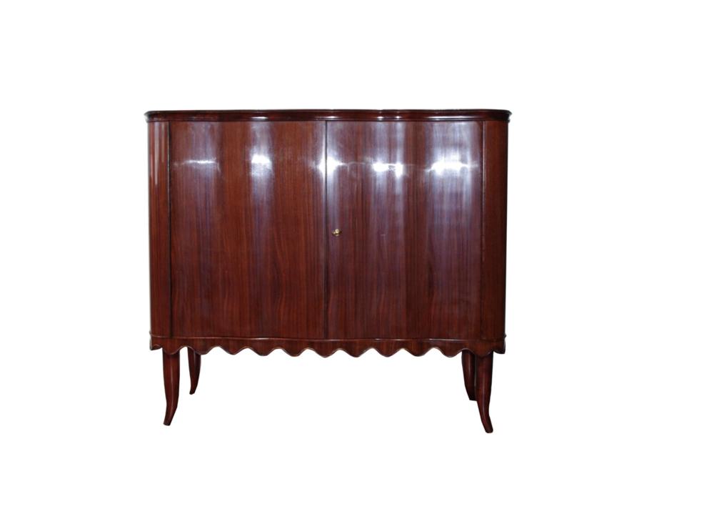 Elegant Italian Bar Cabinet by Paolo Buffa