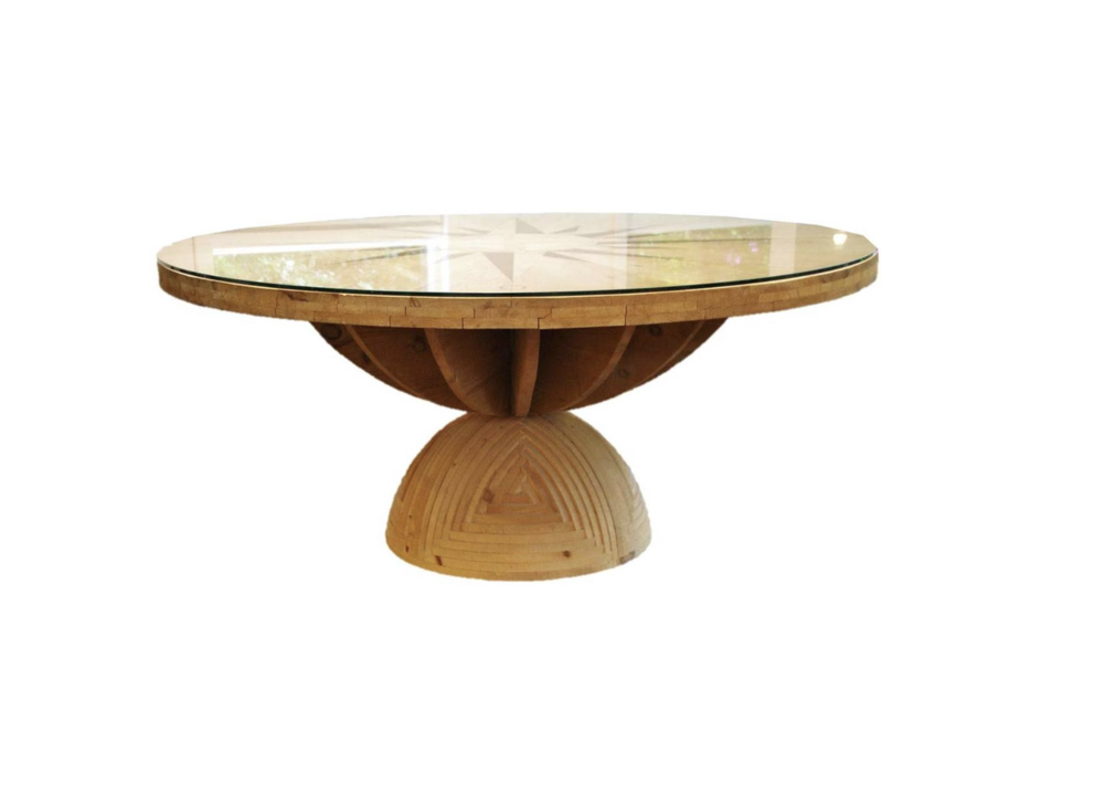 Mario Ceroli 'Rosa dei Venti' Dining Table 1970s