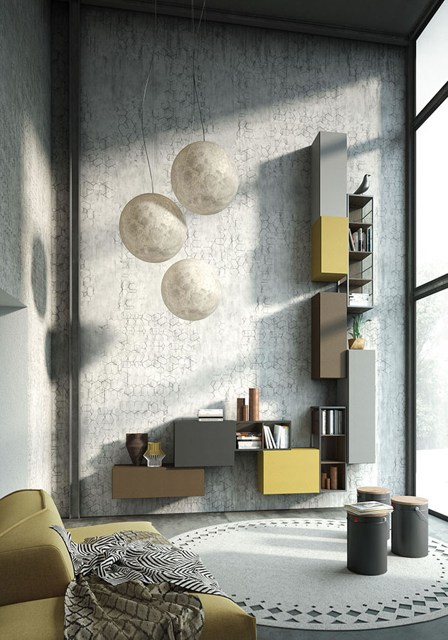 WU 102 Modern Wall Unit