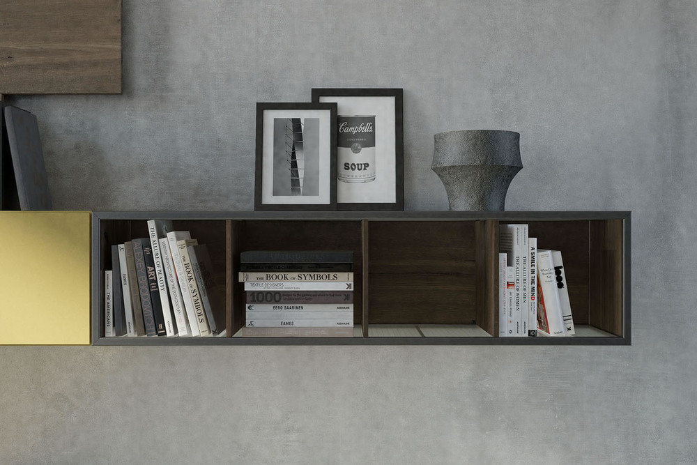 WU 105 Modern Wall Unit