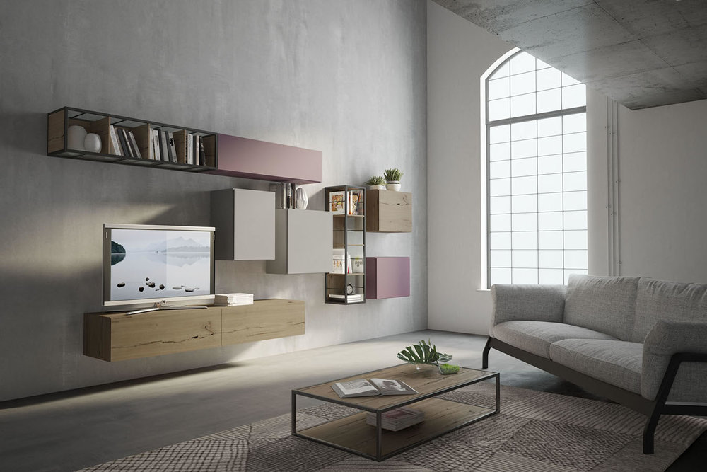 WU 108 Modern Wall Unit