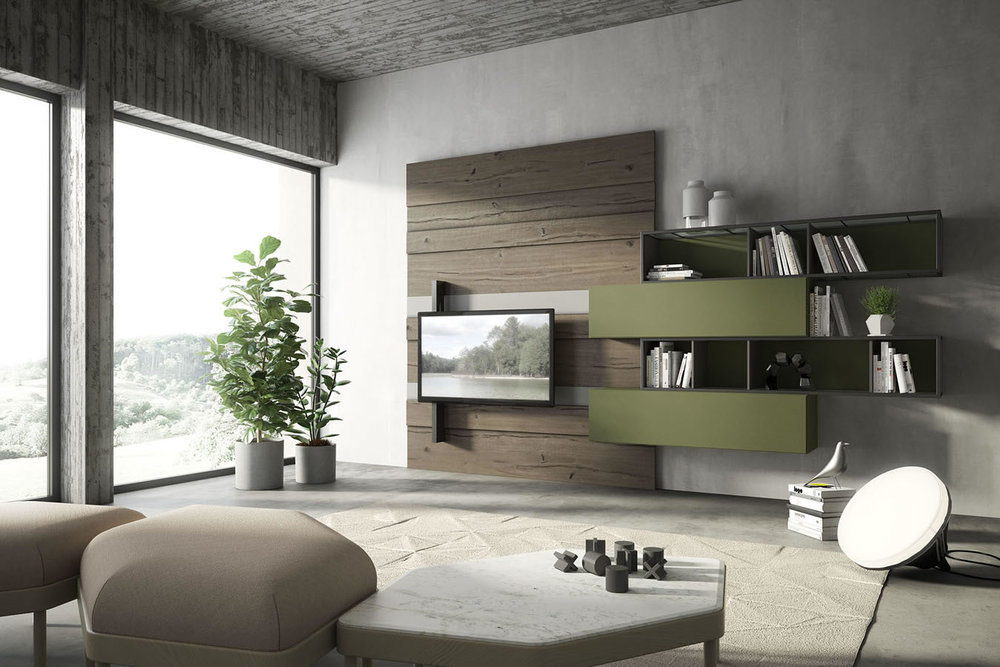 WU 111 Modern Wall Unit