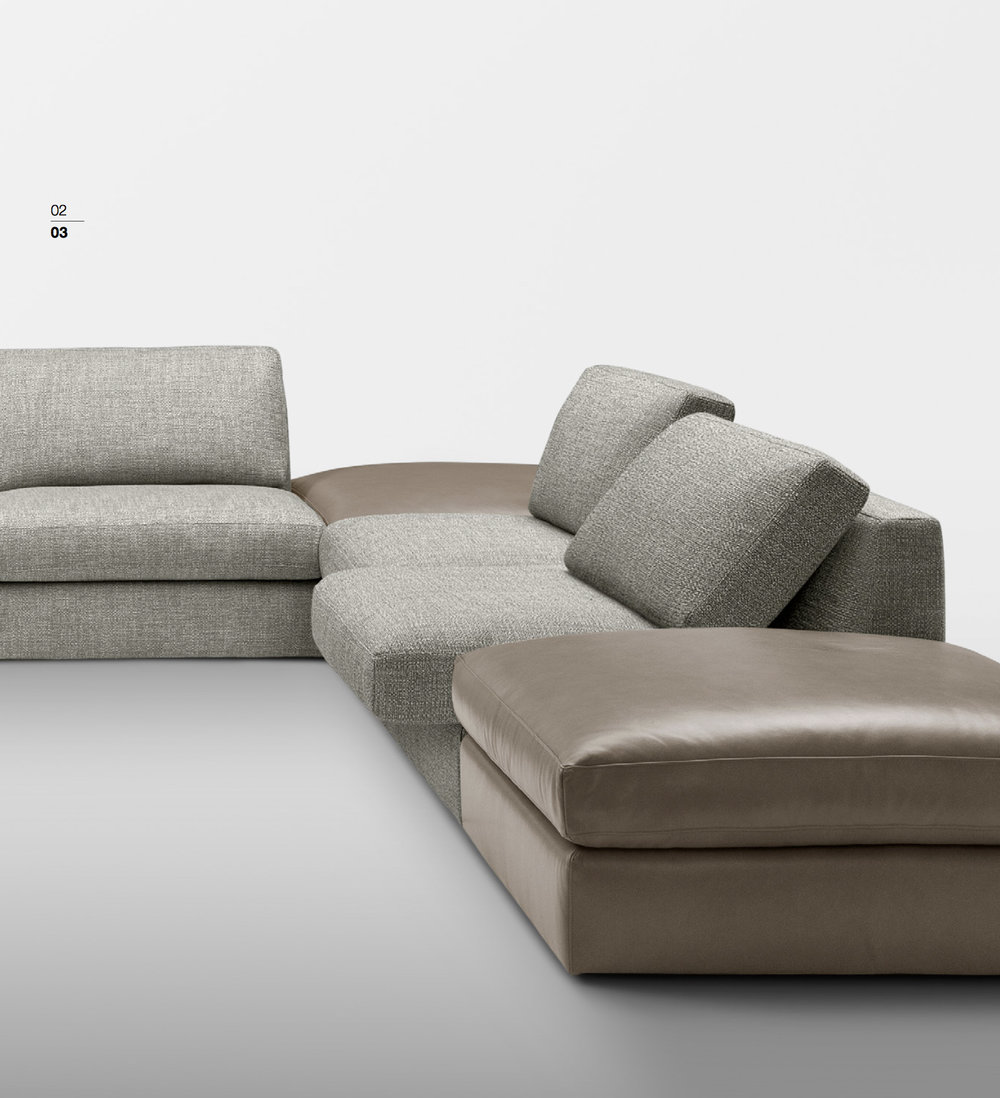 SCT 301 Italian Sectional Sofas
