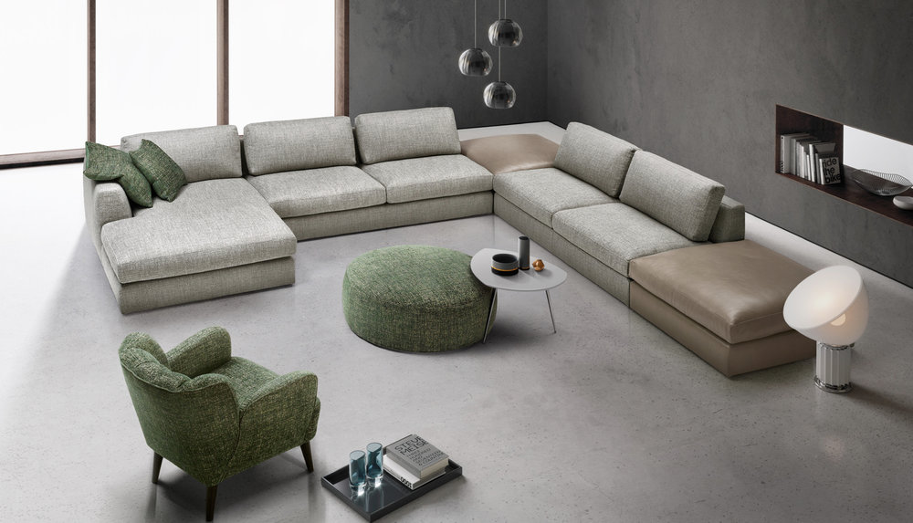 italian sectional sectionals fiore exclusive sofa