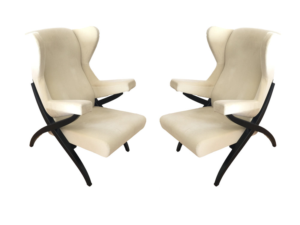 """Franco Albini Lounge Chairs """"Fiorenza"""", Arflex"""
