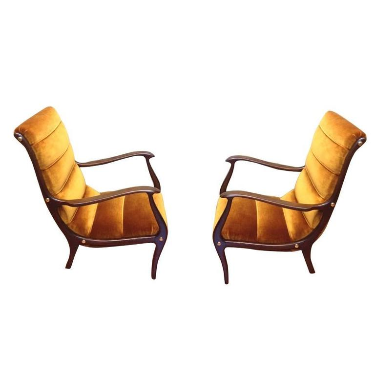 Ezio Longhi Lounge Chairs 1960s