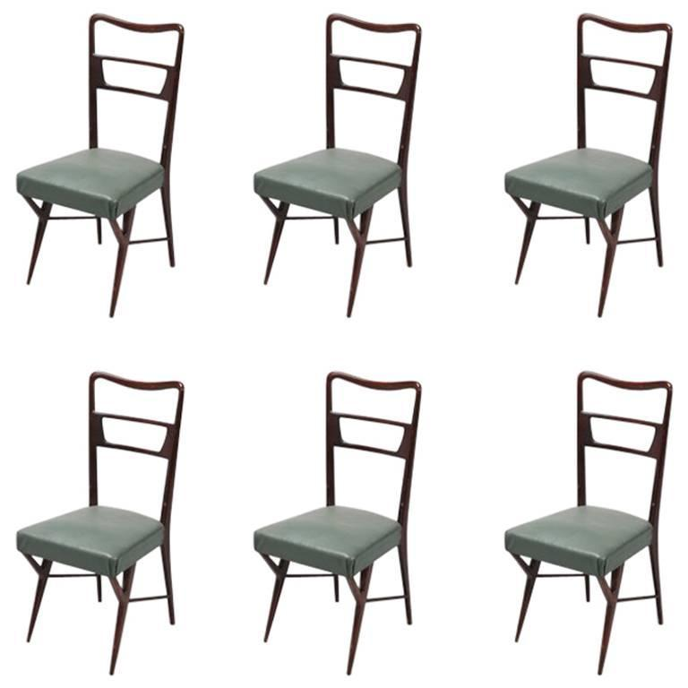 Ico Parisi Mid Century Chairs set of 6