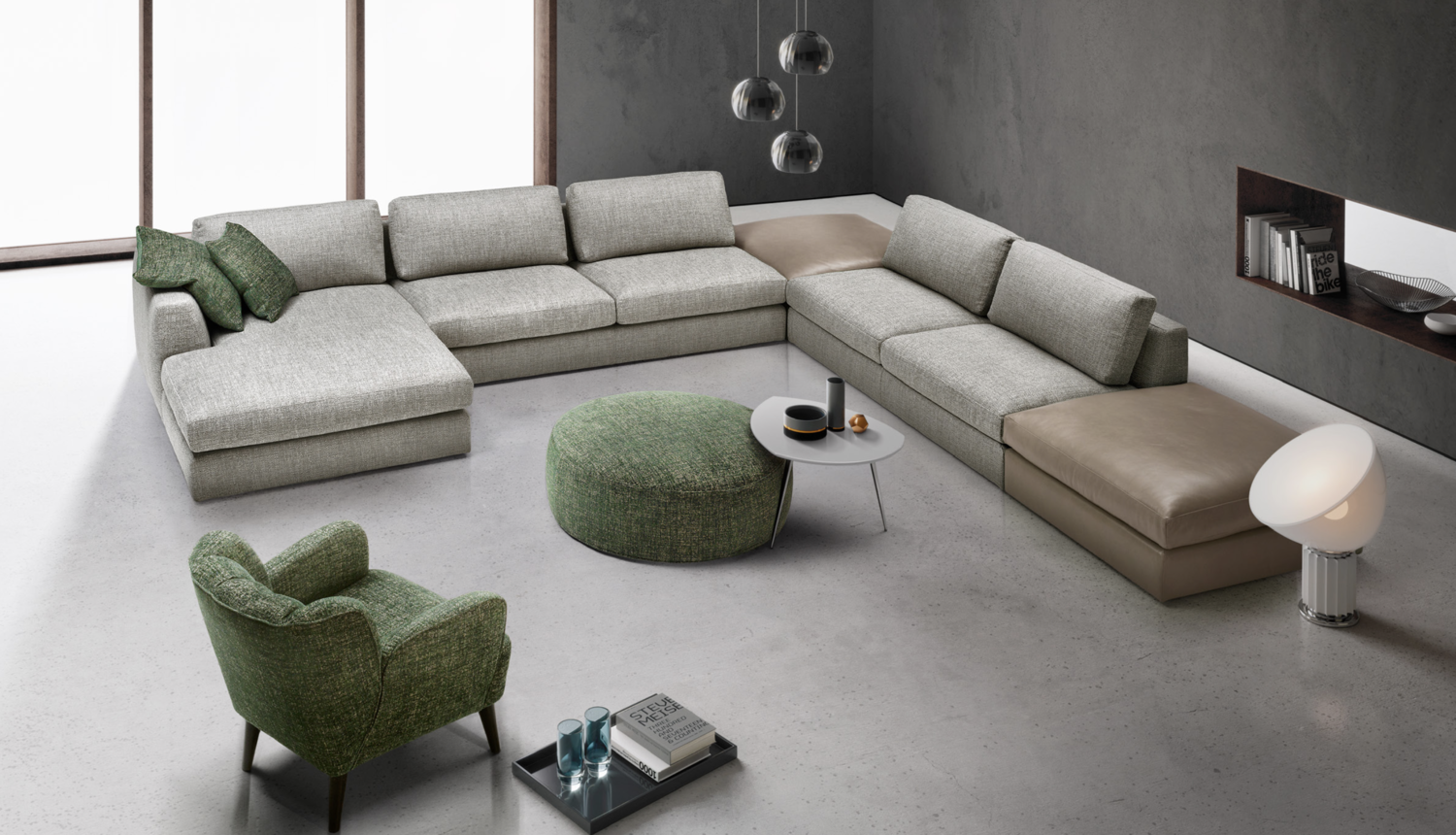 Italian sectional sofa furniture modern design 2017100002 png