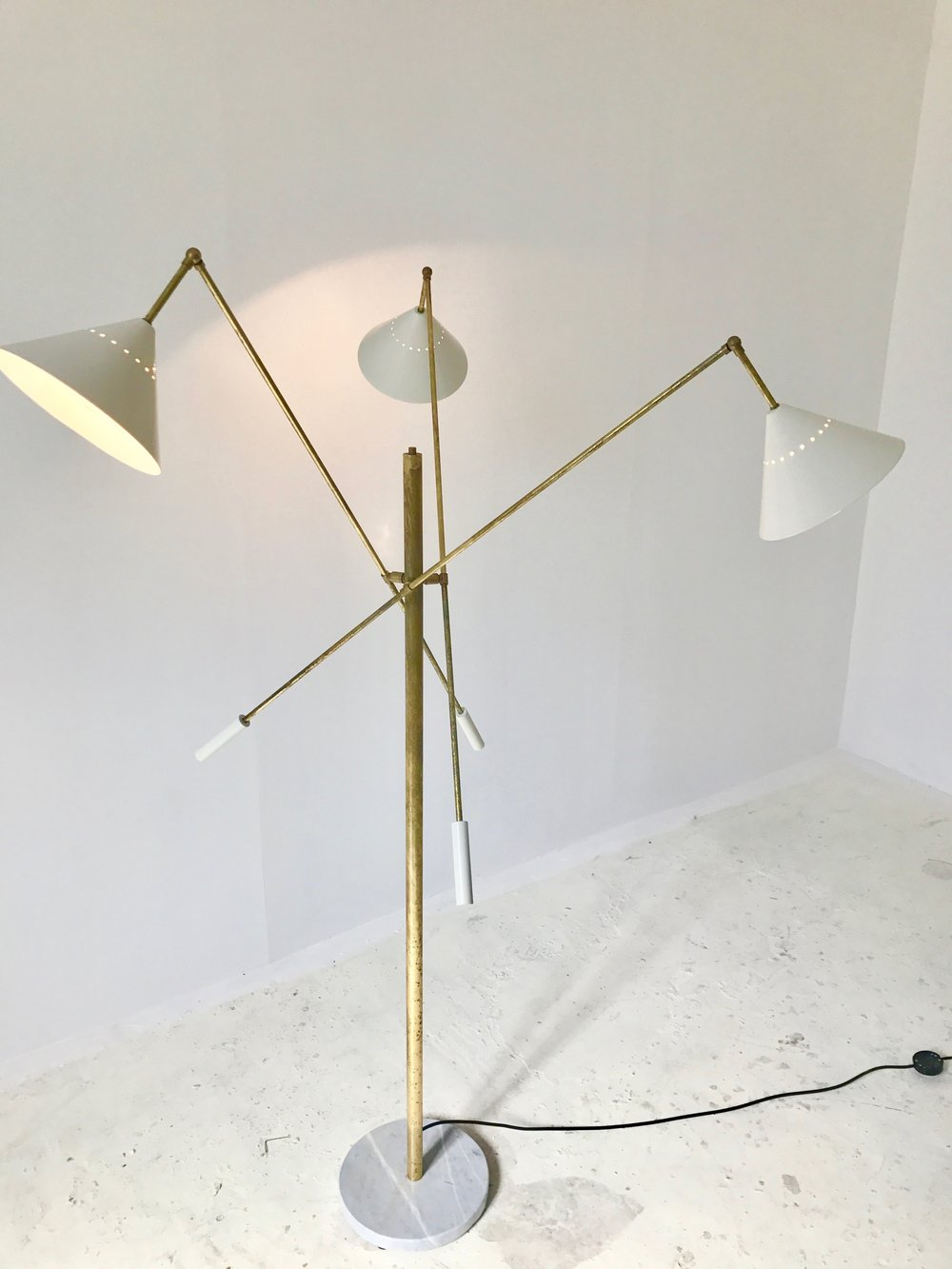 LM 07 Italian Three-Arm Mid Century Style Floor Lamp