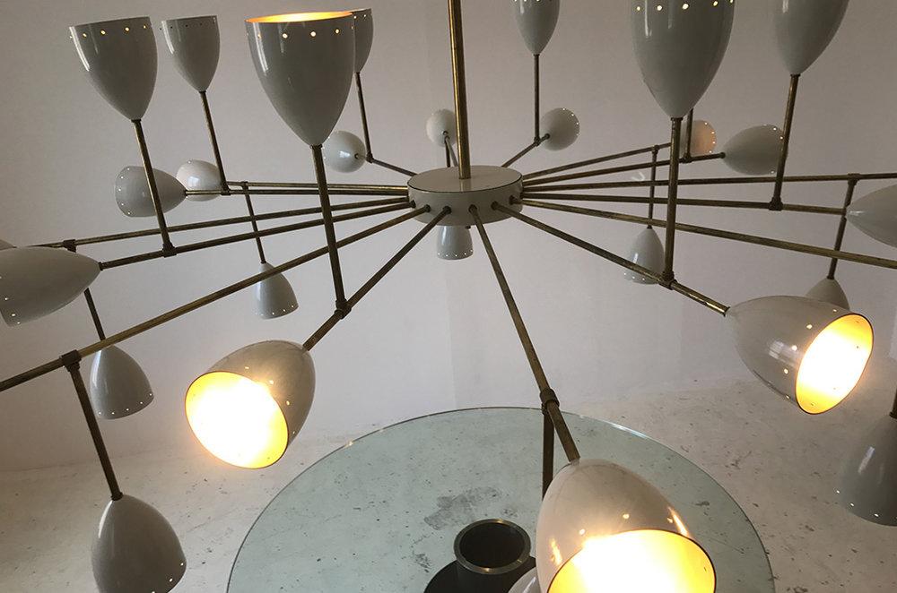 LM 01 Mid-Century Style Italian Sputnik Chandelier