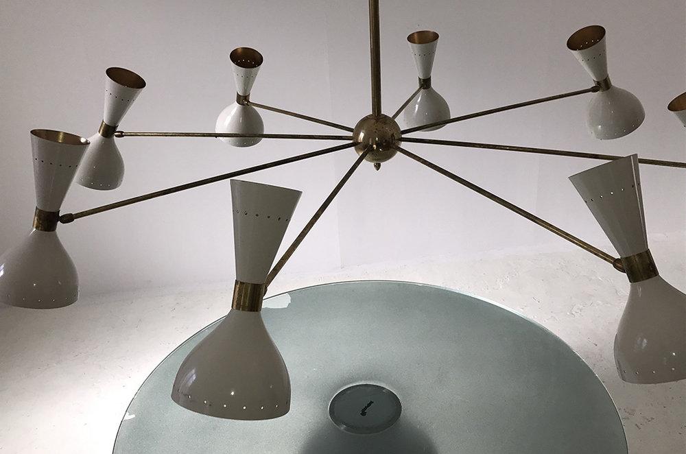 LM 02 Italian Mid-Century Style Sputnik Chandelier