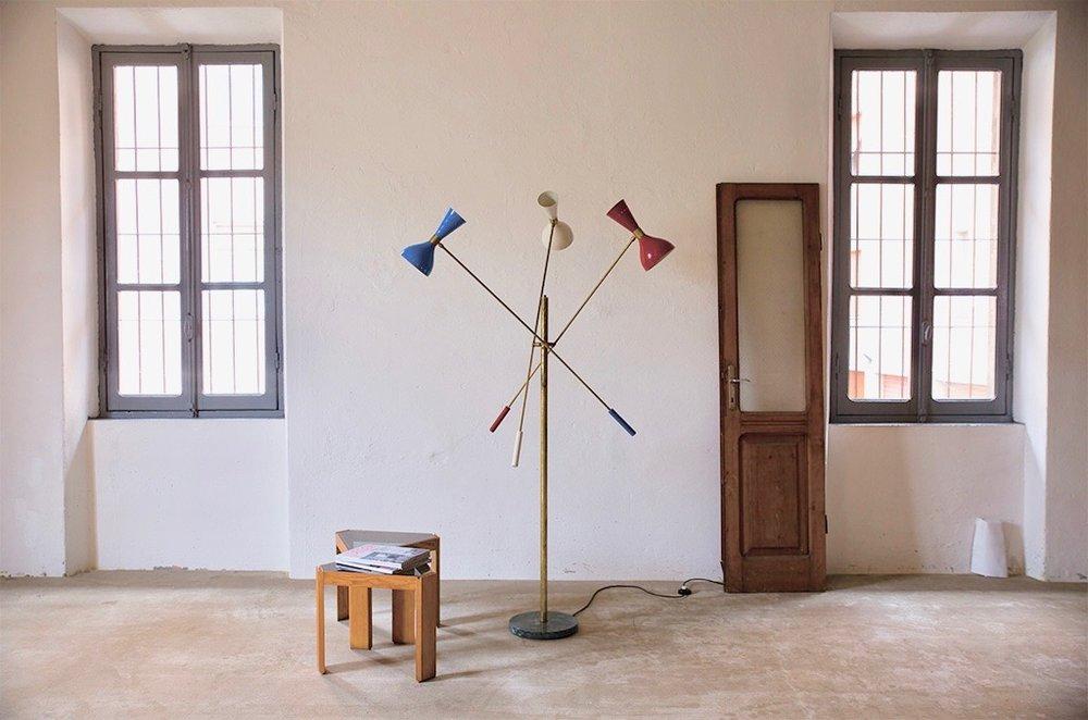 LM 05 Italian Mid-Century Triennale Style Floor Lamp