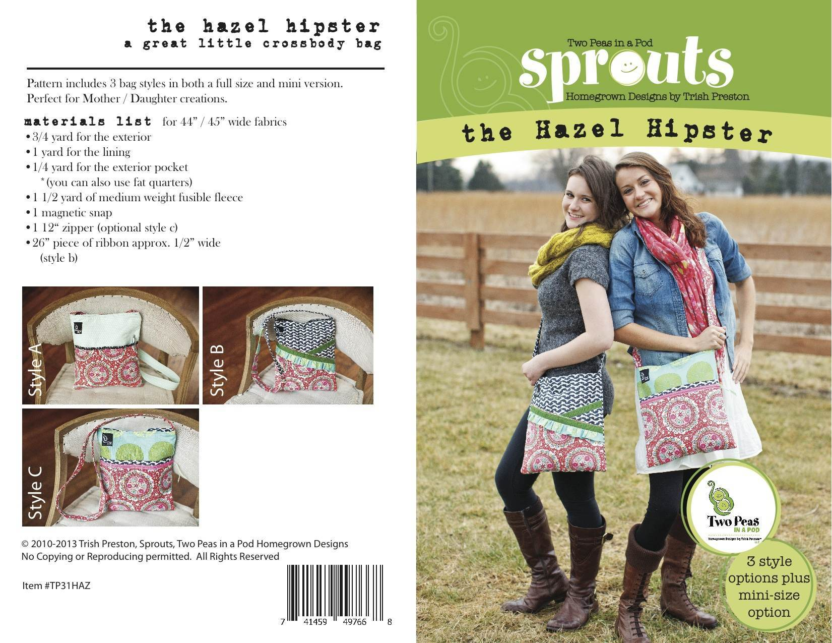 Hazel Hipster Sewing Pattern Cover