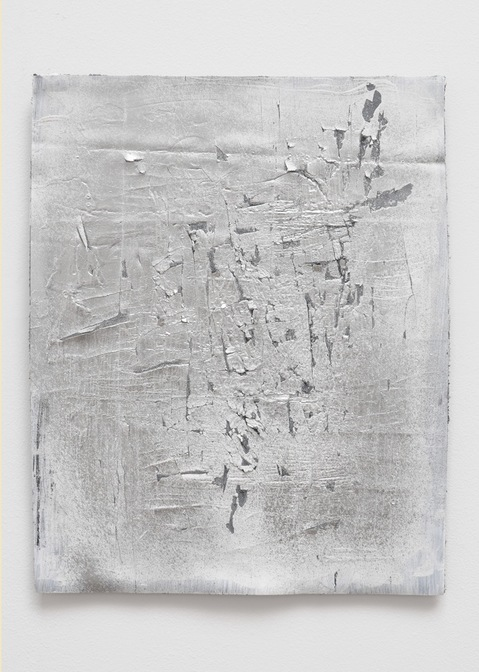 Cheryl Donegan, Untitled (silver distressed) 2012
