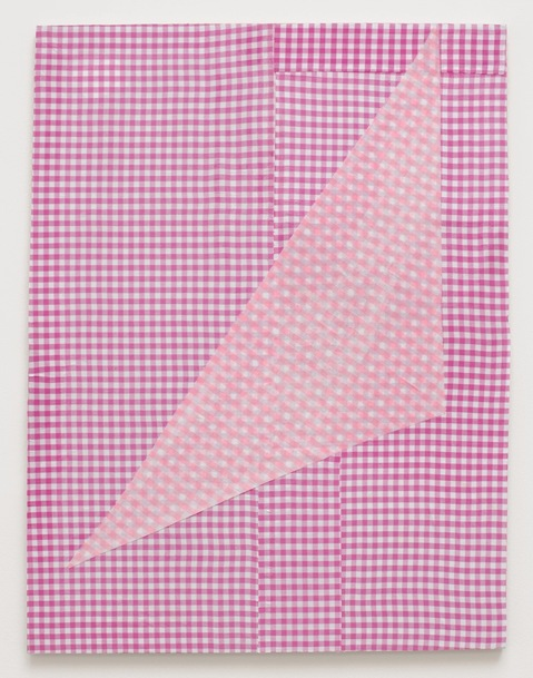 Cheryl Donegan, Untitled (two rose ginghams) 2012