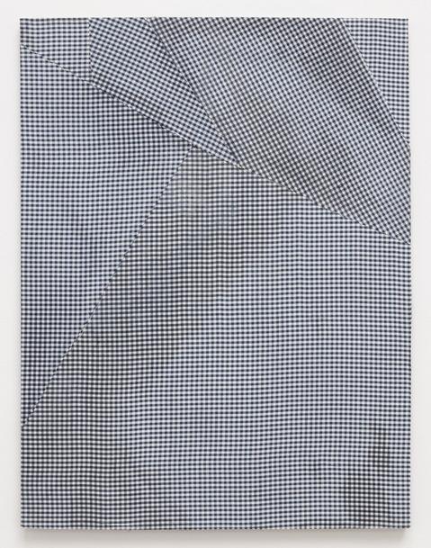 Cheryl Donegan, Untitled (deep blue gingham) 2012