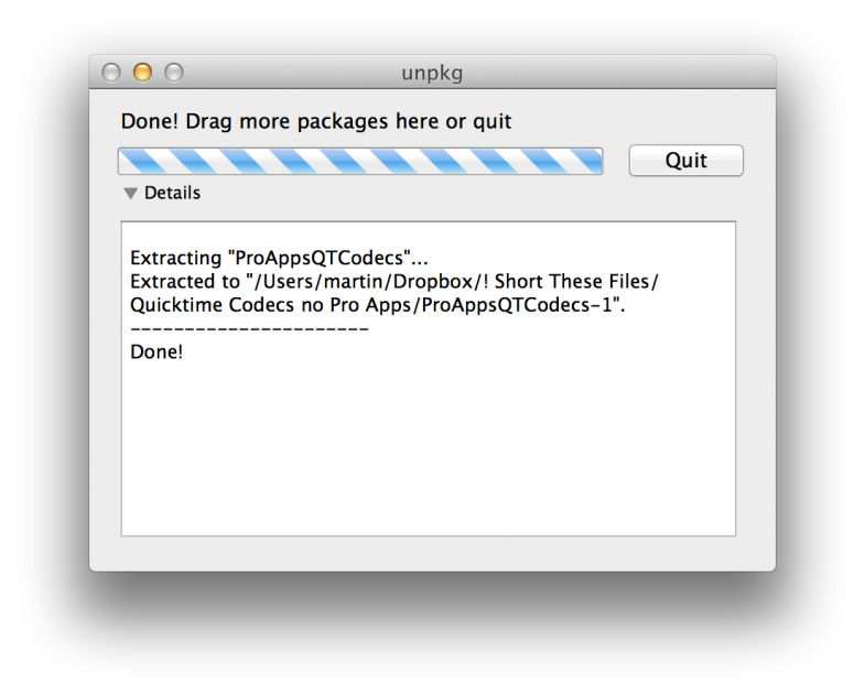 Install the Apple ProRES codec without Final Cut or ProApps