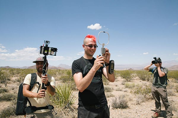 Crew streaming live from the Desert.