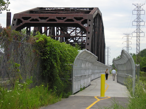 Major Taylor Trail bridge over the Calumet River in Riverdale