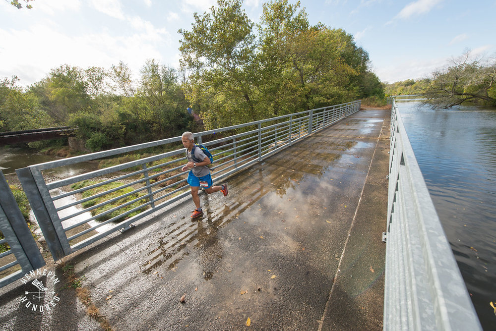 Tokyo's Atsushi Kato crosses a Hennepin Canal aqueduct over the Green River. Photo by Scott Laudick Photography.