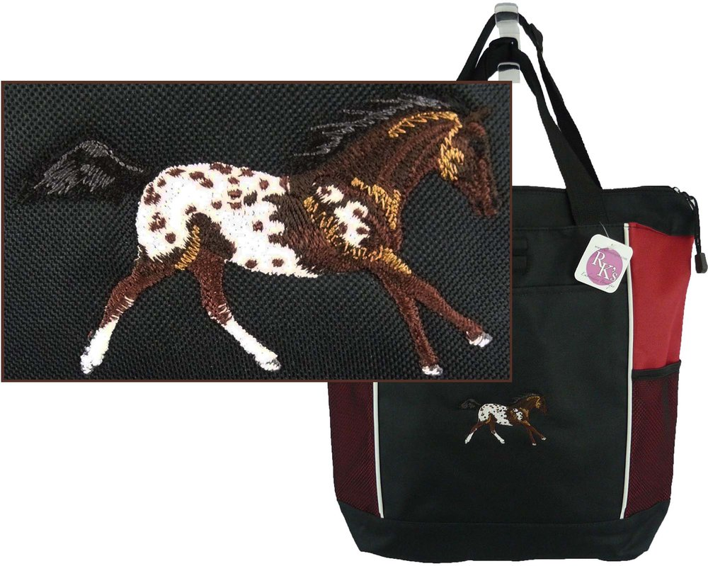 Bay Blanket Appaloosa Red Panel Tote Bag.jpg