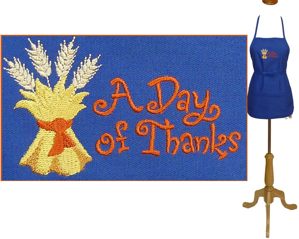 A Day of Thanks Blue Youth Small Apron.jpg