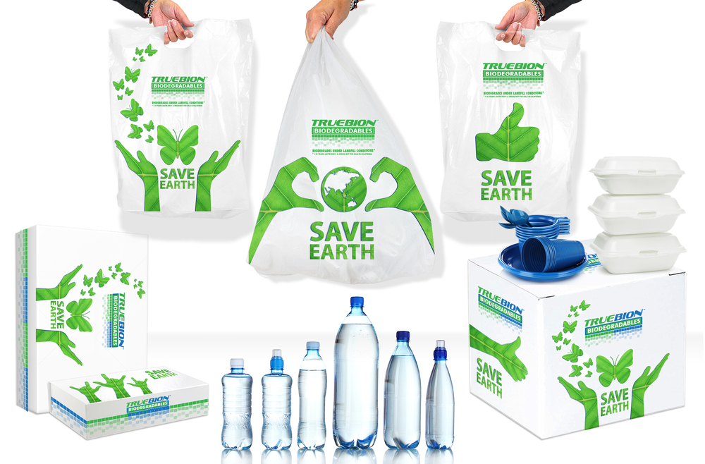 Our fully customizable True Biodegradable Plastic Solutions™ will instantly elevate your company's 'green' brand mission further.