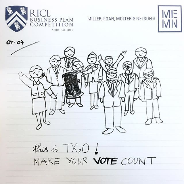 From #tx2o to you. VOTE for us for the people's choice awards at @ricebusinessplancompetition. #ricebusinessplancompetition #rbpc2017 #watertechnology #foracleanerfuture #regenerate #reclaim #reuse #txstgrad