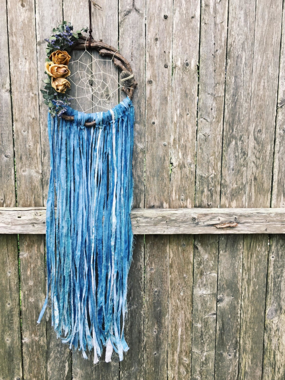 I See Clearly, Indigo + Botanical Dreamcatcher