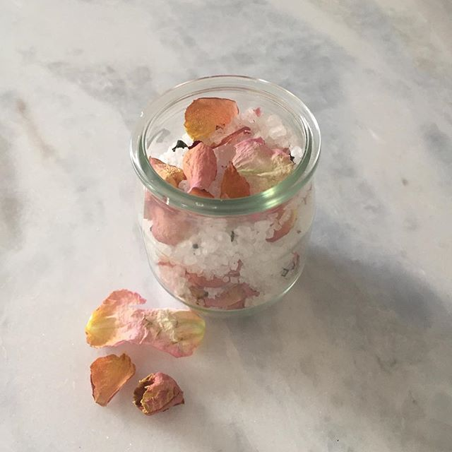 Beautiful Muse bath salts made from the flowers we used in awakening our sacred essence, dried and prepared with ❤️ love.  #innergoddesscircle #sanctuari #sacredfeminineessence #healing #womengathering #womenscircle #feminine