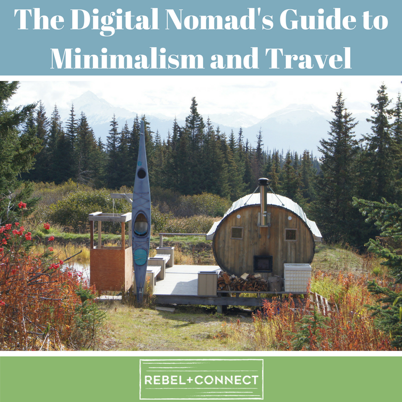 Digital nomad travel minimalism