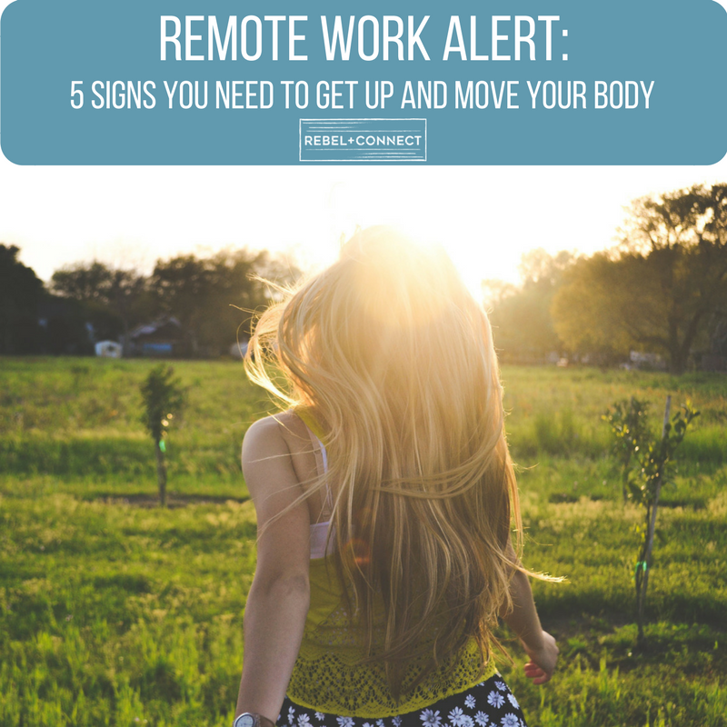 Remote work self care and movement