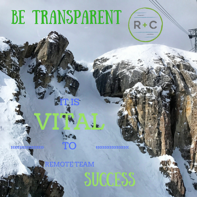 Transparency Remote Team Success