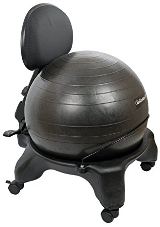 exercise at your desk in your home office with this ball style chair