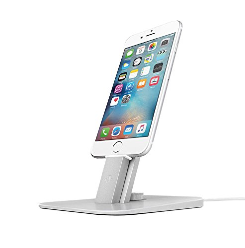iPhone micro USB charging stand for digital nomads and remote workers.