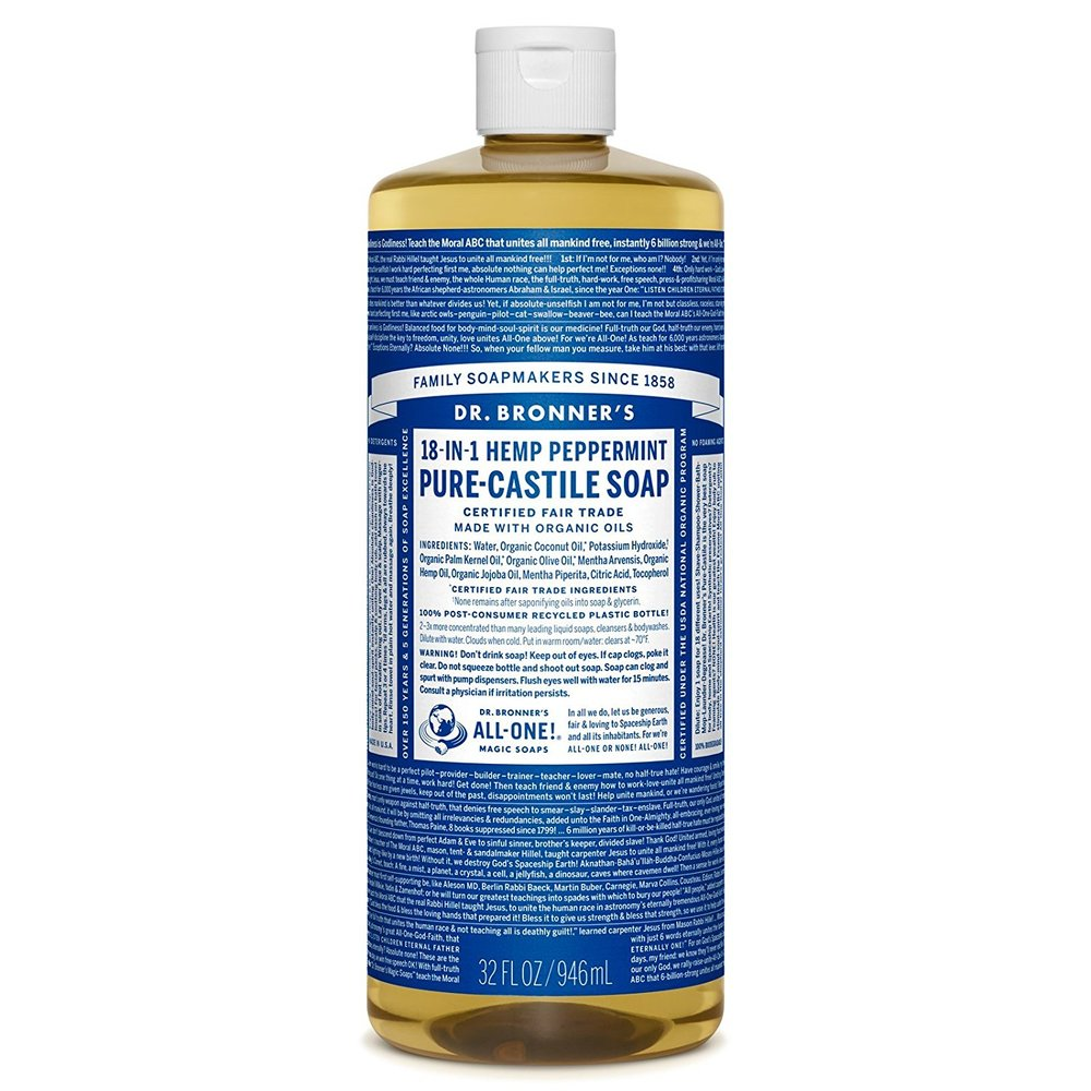 Dr. Bronner's Magic Soap Cleaning Detergent Bio-Degradable Cruelty Free