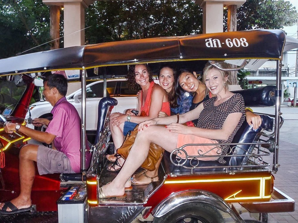 Tuk tuk ride in Chiang Mai Thailand