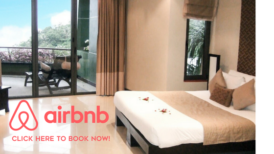 Airbnb booking in Thailand.